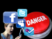 Clip art depicting social media danger