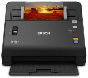 Image of Epson's FastFoto FF-640 high-speed scanner