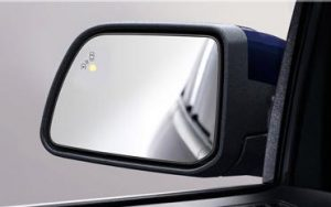 Image of side mirror collision warning system