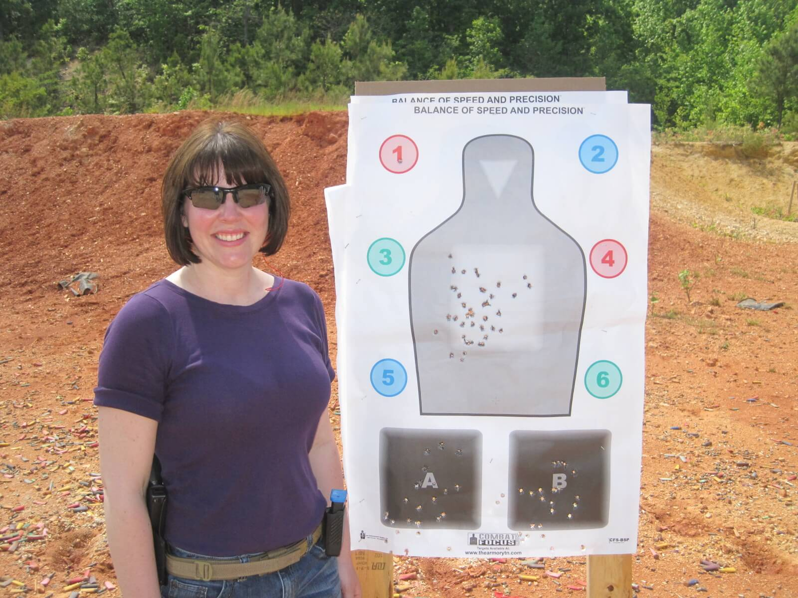Cassie w/ one of her CFS targets