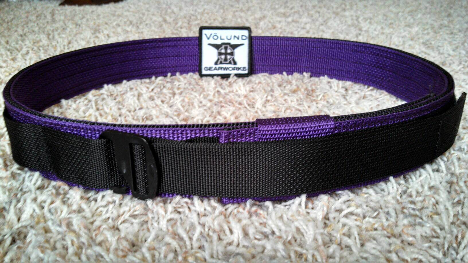 Purple/Black Volund Gearworks ATLAS Belt