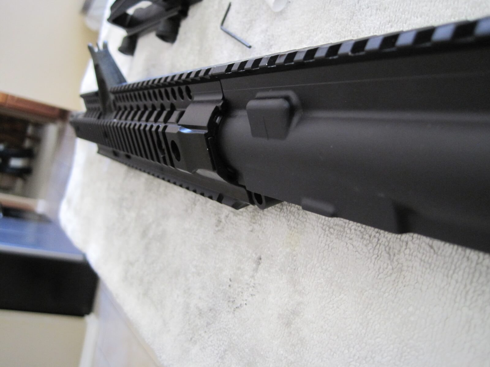 Check alignment of receiver and Daniel Defense Omega X FSP Rail