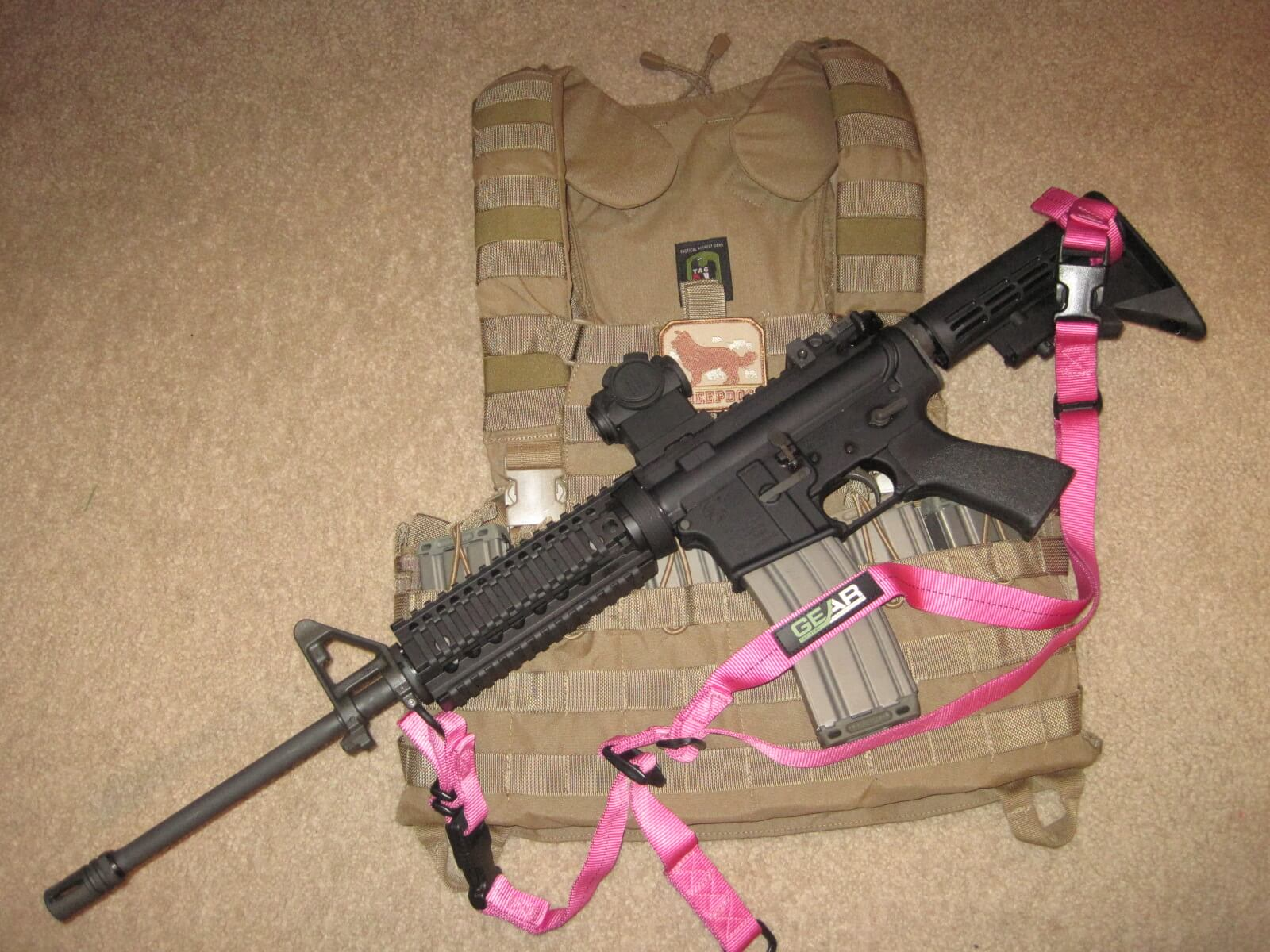 Pink GS-2P on Colt AR6720